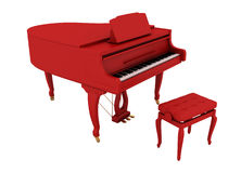 Beautiful red grand piano Stock Photos