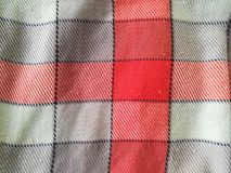 Scotch Scarf. Beautiful of red gray and three colour Scotch Scarf Popular souvenirs from Northern Thailand Attractions Royalty Free Stock Photography