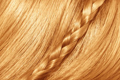 Beautiful red hair. Femail hair Royalty Free Stock Images
