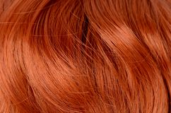 Beautiful red hair as a background Royalty Free Stock Photos