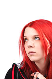 Beautiful red hair girl Stock Photo
