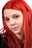 Beautiful red hair girl Stock Image