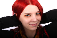 Beautiful red hair girl Stock Photography