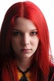 Beautiful red hair girl stock photo