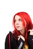 Beautiful red hair girl Stock Photos