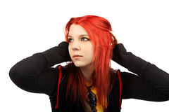 Beautiful red hair girl Royalty Free Stock Images
