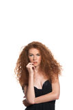 Beautiful red hair woman Stock Photo