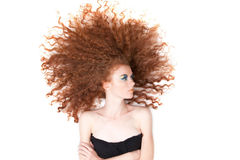 Beautiful red hair woman Stock Photography