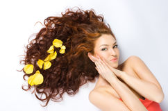 Beautiful red-haired Stock Photography