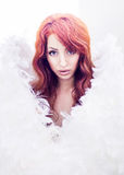 Beautiful red-haired angel Royalty Free Stock Photos
