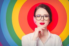 Beautiful Red-haired Businesswoman Royalty Free Stock Photos