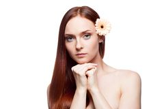 Beautiful red haired girl Stock Image