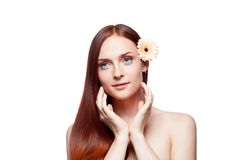 Beautiful red haired girl Stock Images