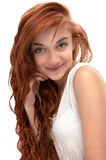 Beautiful red haired girl at age of nineteen Stock Photo