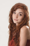 Beautiful red haired girl at age of nineteen Royalty Free Stock Photography