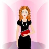 Girl in black Stock Images