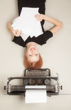 Beautiful red-haired girl Royalty Free Stock Photos