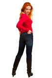Beautiful red-haired girl Royalty Free Stock Photo