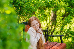 Beautiful red-haired girl royalty free stock image