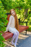 Beautiful red-haired girl Stock Images