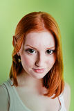 Beautiful red-haired girl in a role of elf Royalty Free Stock Photography