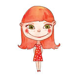 Beautiful red-haired girl Stock Image