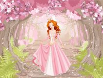 Beautiful Red Haired Princess Stock Images