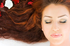 Beautiful red-haired woman Stock Photo