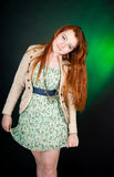 Beautiful red haired woman Royalty Free Stock Image