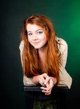 Beautiful red haired woman. Studio shot of beautiful red haired woman Royalty Free Stock Photography