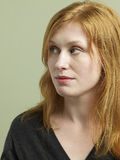 Beautiful Red Haired Woman Looking Away Royalty Free Stock Photos
