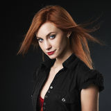 Beautiful red-haired women Stock Image