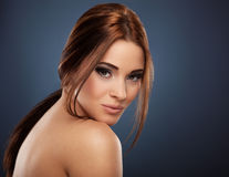 Beautiful red-haired young woman posing Royalty Free Stock Image