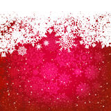 Beautiful red happy Christmas card. EPS 8 Stock Photos