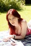 Beautiful red head Royalty Free Stock Image