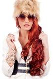 Beautiful red head fashion women Royalty Free Stock Photo