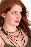 Beautiful red head with freckles Royalty Free Stock Image