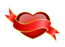 Beautiful red heart Stock Images