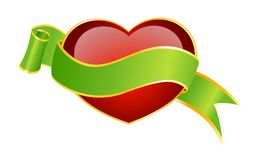beautiful red heart Royalty Free Stock Image
