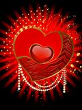 beautiful red heart Royalty Free Stock Photography