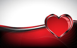 Beautiful red heart background Royalty Free Stock Photography