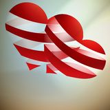 Beautiful red heart background. Stock Photos