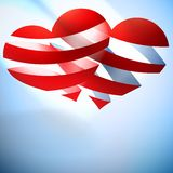 Beautiful red heart background. Stock Photo