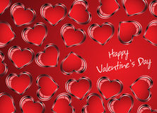 Beautiful red heart background. Vector Royalty Free Stock Photos
