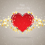 Beautiful red heart background. Vector Illustration Stock Image