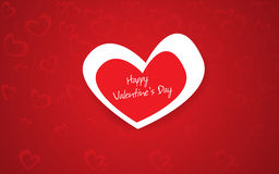 Beautiful red heart background. Vector Illustration Stock Images
