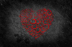 Beautiful Red Heart on Black Background Royalty Free Stock Photo