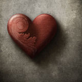 Beautiful red heart on grunge background