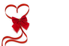 Beautiful red heart for valentine holiday Stock Photos
