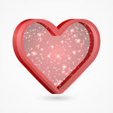 Beautiful red heart. Vector illustration. Royalty Free Stock Image